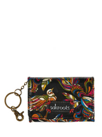 Sakroots Flap ID Keychain (Midnight Treehouse)