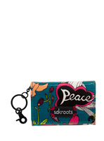 Sakroots Flap ID Keychain (Azure Peace)
