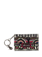 Sakroots Flap ID Keychain (Cream One World)