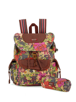 Sakroots Flap Backpack (Slate Flower Power)