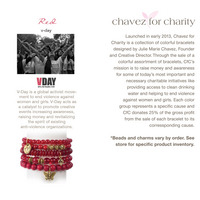 Chavez for Charity  V Day Bracelet