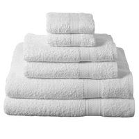 6 Piece Towel Set, White