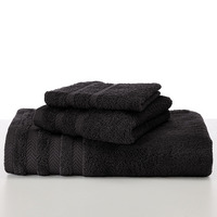 Martex Wash Cloth, 13 x 13, Black