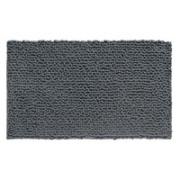 Microfiber Frizz Bathroom Shower Accent Rug, 30in x 20in, Charcoal