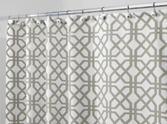 Fabric Shower Curtain, Trelis Grey