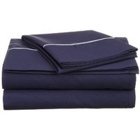 Martex Twin Extra Long (TXL) Sheet Set, Navy