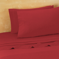 Twin, Twin Extra Long Jersey Sheets, Red