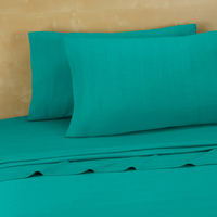 Twin, Twin Extra Long Jersey Sheets, Turquoise