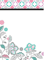 Floral Medley DryErase Message Board