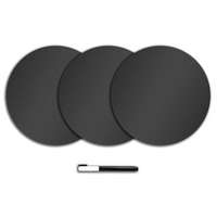 WallPops Dry Erase Dot Decals, Charcoal (3 pack)