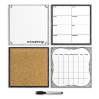 WallPops Black & White 4 Piece Organization Set