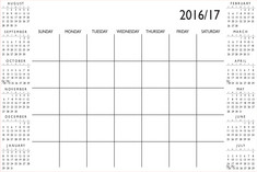 WallPops 2016 2017 Academic Calendar, White, 24in X 36in
