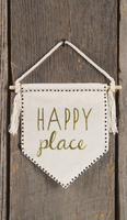 Natural Life Wall Pennant Happy Place