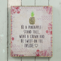 Natural Life Bungalow Art Pineapple