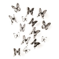 Umbra Butterfly Wall Dcor, Black & Clear