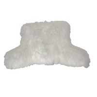 Angora Fur Backrest Ivory