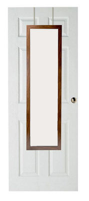 Over the door mirror natural trim 12 inch x 48 inch