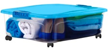 Bella 36 QT Underbed Storage with Locking Lid