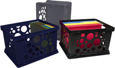 Storex Large Bubble Crate, Assorted Colors