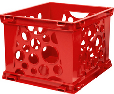 Storex Large Bubble Crate, Red