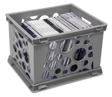Storex Small Bubble Crate, Grey