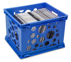 Storex Small Bubble Crate, Navy
