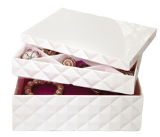 Stackable Jewelry Box White