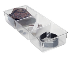 Linus 3 Section Dresser Organizer, Clear