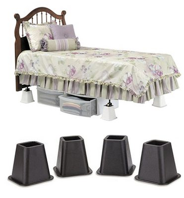 Black Square Bed Risers