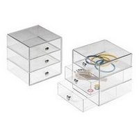 3 Drawer Multipurpose Storage Container with Knobs, Clear