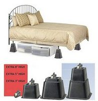 Adjustable Bed Risers   Black