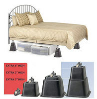 Adjustable Black Square Bed Risers