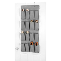 Hanging Over the Door Shoe Storage, Grey