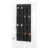 Hanging Over the Door Shoe Storage, Black