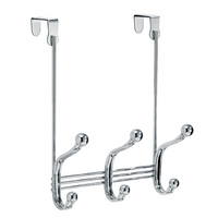 York Lyra Over the Door Organizer Hooks, Chrome