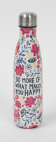 Natural Life Water Bottle Do More You Happy