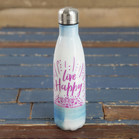 Natural Life Water Bottle Live Happy
