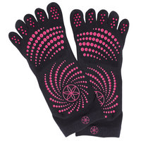 Gaiam All Grip No Slip Yoga Socks,  Medium or Large, Pink Dots