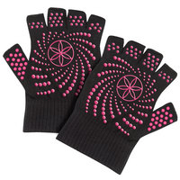 Gaiam Super Grippy Yoga Gloves, Pink Dots