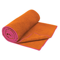 Gaiam Thisty Yoga Mat Towel, Tangerine & Posy