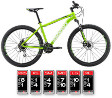 Diamondback Overdrive ST 27.5in Mountain Bike, 20 inch Frame, Large, Green