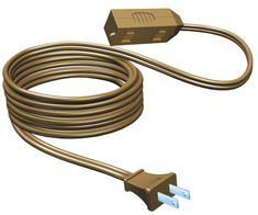 15ft 3 Outlet Extension Cord Brown