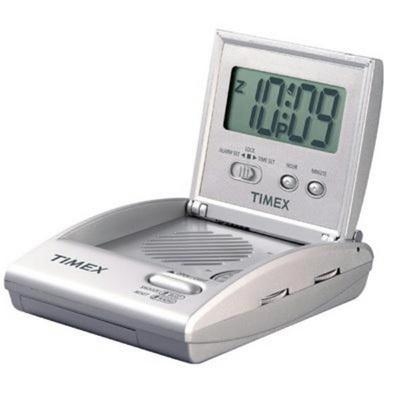 Travel Alarm Clock Radio Silv