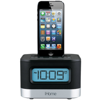 iPhone iPod Lightning Clock Black