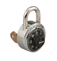 Combination Lock Chem Stamped  Key Controlled