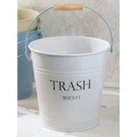 York Pail Wastecan, White