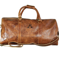 Large Leather Duffel  Web Only