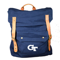 Back Pack with Leather Buckle Accents