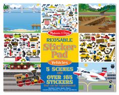 Melissa and Doug Reusable Sticker Pad , Vehicles