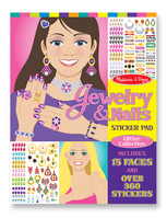 Melissa and Doug Jewelry & Nails Glitter Collection Sticker Pad